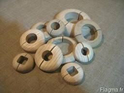 Декоративные накладки на трубы (деревянные) - photo 4