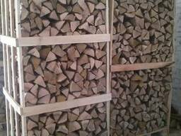 Chopped firewood, oak, ash (natural moisture)