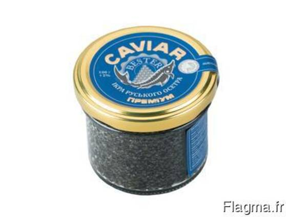 Natural black caviar of Russian sturgeon