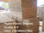 Sell sawn timber, edged planks, blanks Aspen - photo 1
