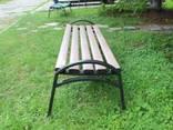 Скамейка «Эпик» пластиковая с металическим основанием - фото 3