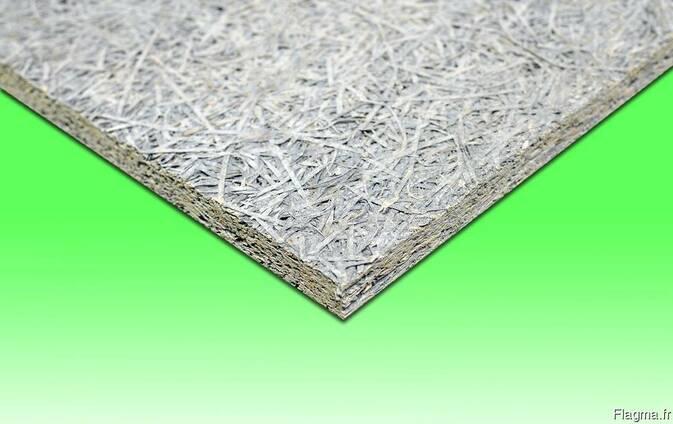 Wood wool cement board / Panneau de ciment en laine de bois